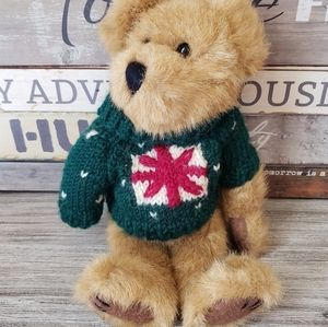 Christmas Sweater Boyds Bear Green Red Brown